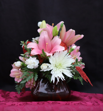 Love Puff Bouquet Centerpiece