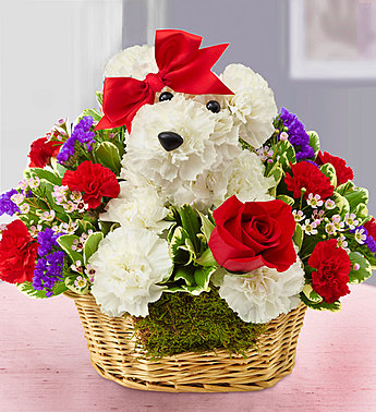 Love Pup™ Basket Arrangement