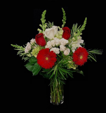 Love Red Roses and White Mix