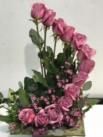 Love Roses Twist A modern arrangement