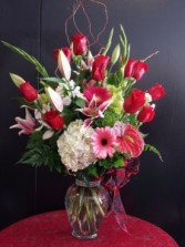 Rose & Lily mixed floral bouquet