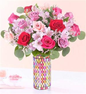 Song of Summer Keepsake Mosaic Vase (Gorgeous!) in Gainesville, FL | PRANGE'S FLORIST