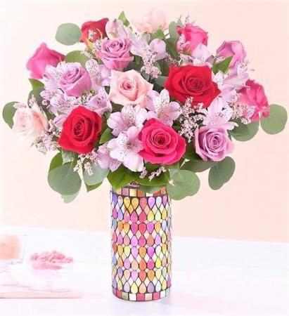 Song of Summer Keepsake Mosaic Vase (Gorgeous!)