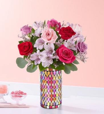 Love Song  Jewel Mosaic Vase