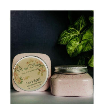 Love Spell Bath Bomb Jar Waveland Candle Company