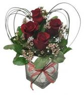 Love Squared Roses in glass cube