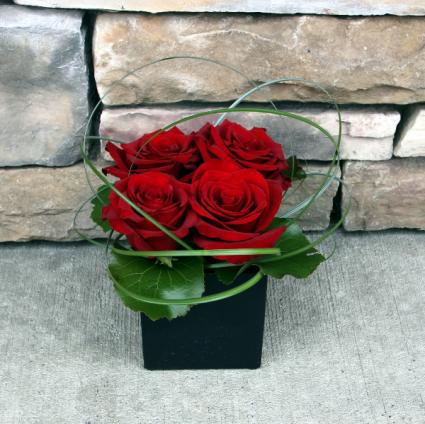 Love Squared Contemporary Rose Arrangement