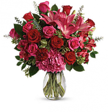 Pink Embrace Anniversary Flowers