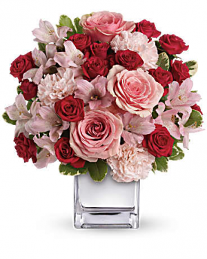 Love That Pink Bouquet with Roses in Jasper, TX | BOBBIE'S BOKAY FLORIST