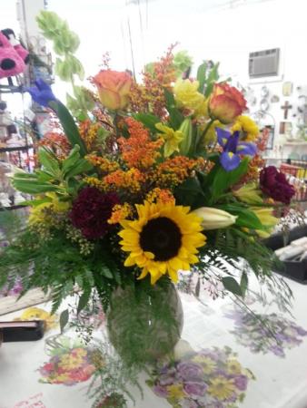 Love the Fall Time Vase Arrangement