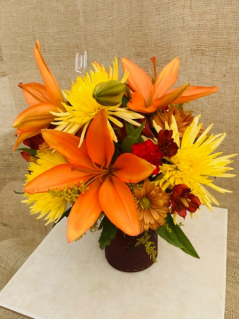 Love those Autumn Lilies   Vased Arrangement