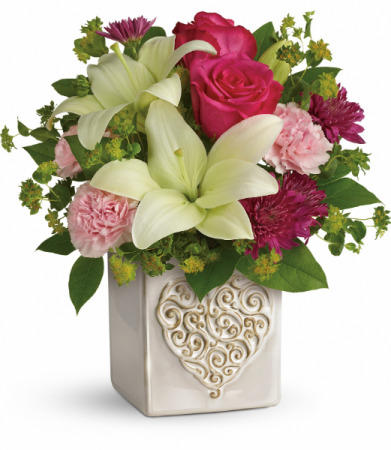 Love To Love You All-Around Floral Arrangement