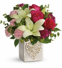 Love To You lilies, roses, and carnations