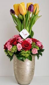 Spring Tulip Tower V21-808 Flower Arrangement