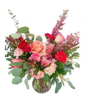 Love Vase Arrangement in Mantua, NJ | Lavender & Lace Florist & Gift Shop