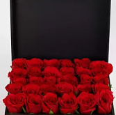 Love with roses Valentine box arrangement