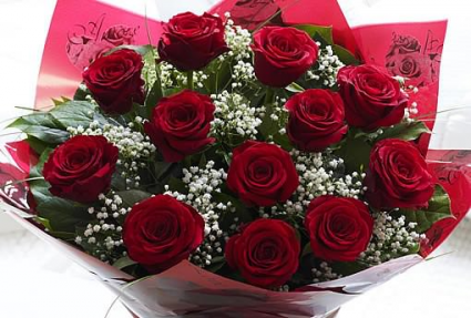 Love You, Always & Forever 12 Red roses
