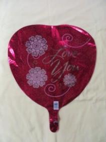 Love You Balloon 2 Mylar Balloon