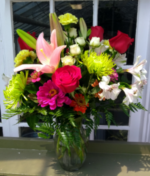 Love You Best Custom Designed Vase Arrangement in North Adams, MA | MOUNT WILLIAMS GREENHOUSES INC