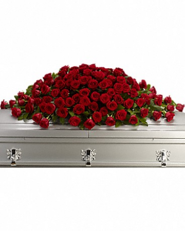 Love You Casket Spray Casket Flowers