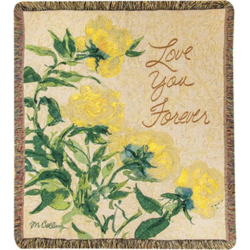 """Love You Forever Manual 50x60"""" Tapestry Throw"""