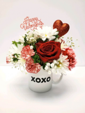 Love You Latte Mug Arrangement