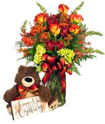 Love You Like Crazy Teddy Arrangement