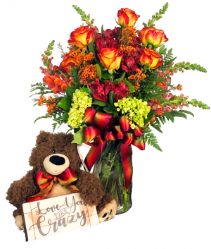 Love You Like Crazy Teddy Arrangement in Spanish Fork, UT | 3C Floral