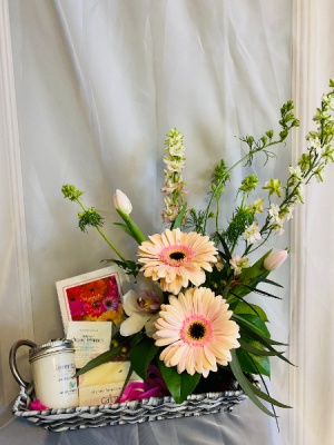 love you Mom Basket Flower Arrangement in Airdrie, AB | Flower Whispers