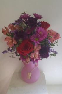 Love You More Pink Vase arrangement
