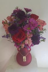 Love you more red Vase arrangement