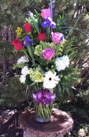 Love you more vase arrangement