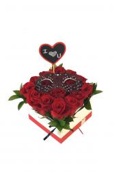 Love You Rose Box Box of  Roses