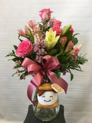 Love you S'more Vase arrangement in Joliet, IL | LABO'S FLOWERS & GIFTS