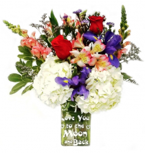 Love You To The Moon and Back!  Flower Arrangement