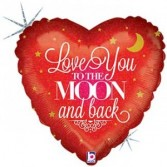 Love you to the Moon and Back Mylar balloon