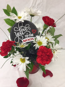 Love You To The Moon & Back Floral Arrangement