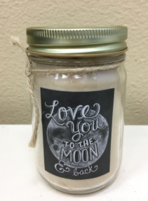 Love You To The Moon & Back Scented Candle