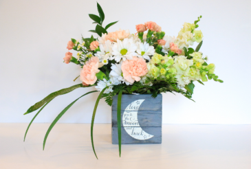 Love you to the moon! (girl) Floral Design