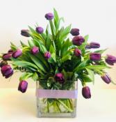 LOVE YOU UNCONDITIONALLY TULIPS ARRANGEMENT Flowers in vase
