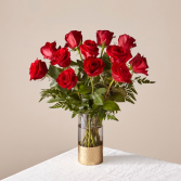 Lovebird's Red Rose Bouquet