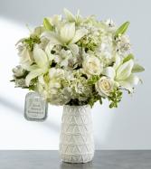 Loved, honored and remembered White ceramic vase