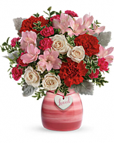 loved - painted in love  vase Flower Arrangement