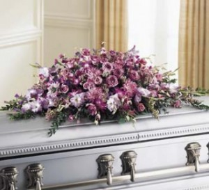 Loveliness Full Casket Cover in Colonia, NJ | LAKE FLOWERS