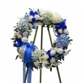Lovely Blue Wreath