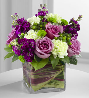 Lovely Expressions  Square Vase arrangement