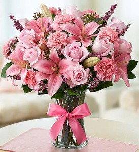 Because I Love You Large vase of mixed flowers