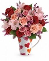 Lovely Hearts Mug GFFG Arrangement