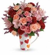 Lovely Hearts Teleflora Arrangement
