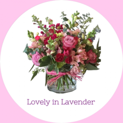Lovely in Lavender  Low cylinder vase